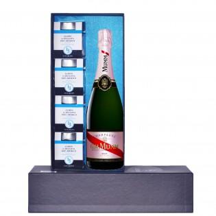 Estuche 4 tarros de Jamón de Bellota 100% Ibérico + Champagne GH Mumm Cordon Rouge