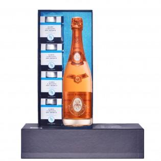 Estuche 4 tarros de Jamón de Bellota 100% Ibérico + Louis Roederer Cristal Rosé